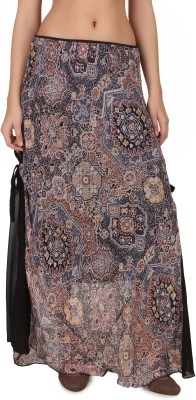 One Femme Paisley Women's A-line Multicolor Skirt