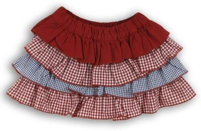 Lilliput Self Design Baby Girl's Tiered Red Skirt