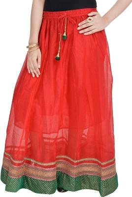 UFC Mart Embroidered Women's Regular Red Skirt
