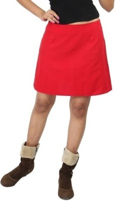 Chinese Solid Women,s A-line Pink Skirt