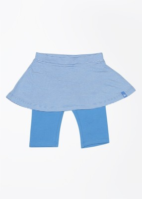 United Colors of Benetton Striped Girl's A-line White, Blue Skirt