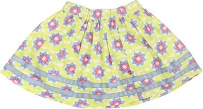 Nino Bambino Floral Print Girl's Gathered Multicolor Skirt