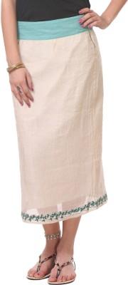 Oghaindia Solid Women's A-line White Skirt