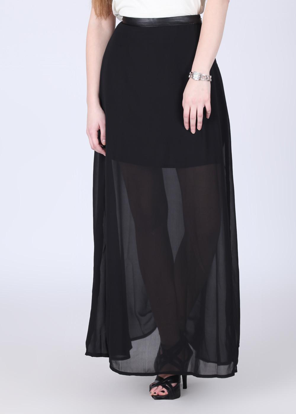 Arrow Solid Womens Black Skirt