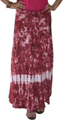 Marusthali Printed Women,s Wrap Around Pink Skirt