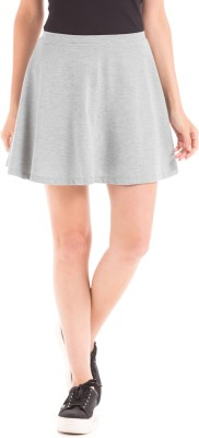 Prym Solid Women's Regular Grey Skirt