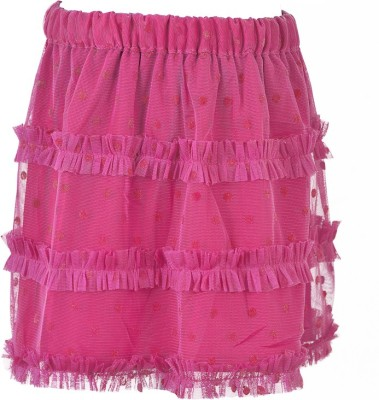 MARSHMALLOW Solid Girl's Regular Pink Skirt