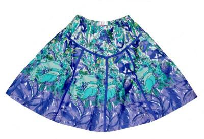 Young Birds Printed Girl's Layered Purple Skirt