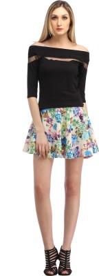 Cation Floral Print Women's A-line Multicolor Skirt