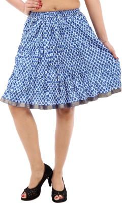 Desert Eshop Printed Women's A-line White Skirt