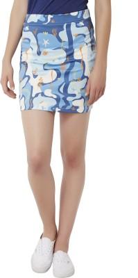 Chumbak Printed Women's Pencil White Skirt