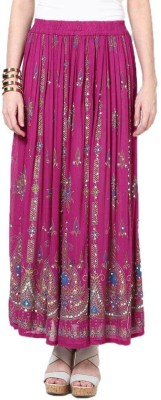 Dimpy Garments Embellished Women's Straight Pink Skirt