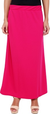 2 Sisters Solid Womens A-line Red Skirt