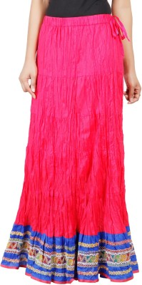 Adaab Solid Women's Layered Pink Skirt