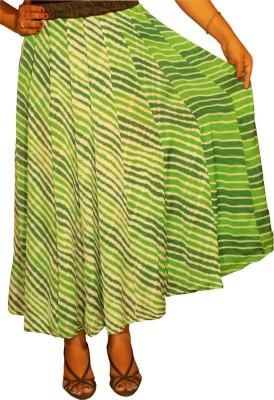 KheyaliBoutique Striped Women,s Gathered Green Skirt