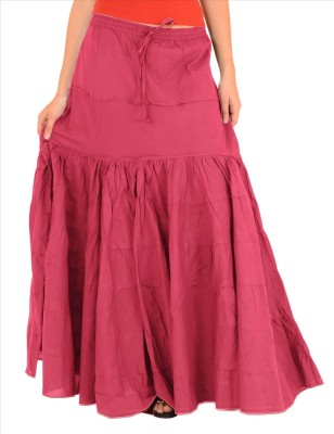 Skirts & Scarves Solid Women's A-line Pink Skirt