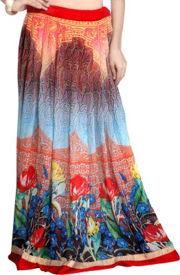 Admyrin Self Design Women's Wrap Around Multicolor Skirt