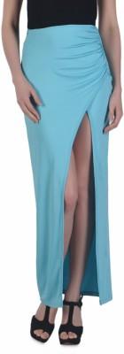 N-Gal Solid Women's Tulip Blue Skirt