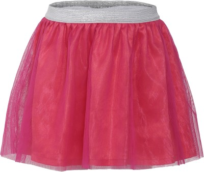 FS Mini Klub Solid Girl's Regular Pink Skirt