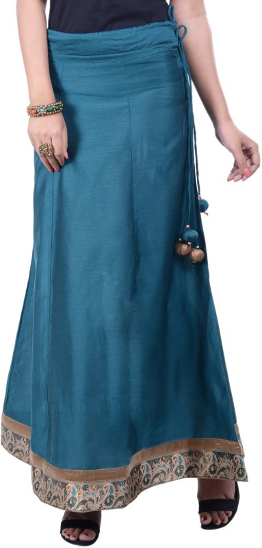 Rene Solid Women's A-line Dark Blue Skirt