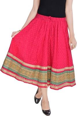 UFC Mart Embroidered Women's Regular Multicolor Skirt