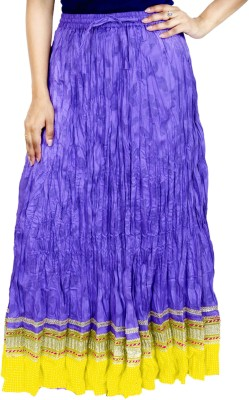 Rangreja Solid Women's A-line Purple Skirt