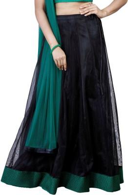 iihaa Solid Women's Regular Black Skirt