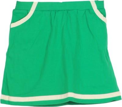 Cherokee Kids Solid Girl's Tube Green Skirt