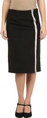 Harpa Solid Women's A-line Black Skirt