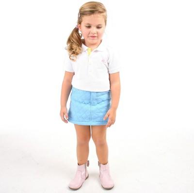 Cherry Crumble California Argyle Girl's A-line Light Blue Skirt