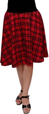 V3ishop Printed Women's Gathered Red Skirt