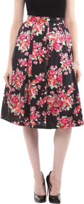 Roving Mode Floral Print Women's Pleated Multicolor Skirt