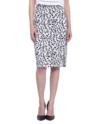 Leo Sansini Printed Women,s Straight Multicolor Skirt