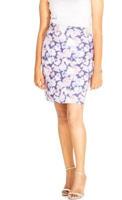 Young Trendz Floral Print Women's Pencil Multicolor Skirt