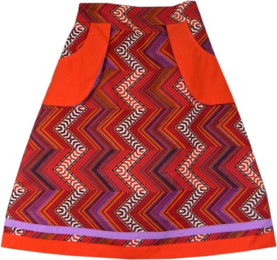 SSMITN Printed Girls A-line Multicolor Skirt at flipkart
