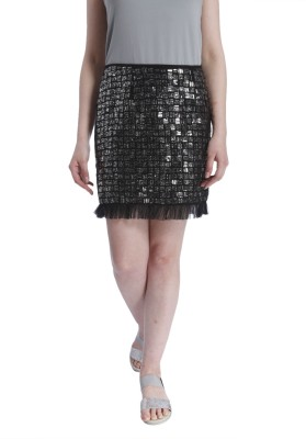 Vero Moda Embellished Women's Pencil Black Skirt at flipkart