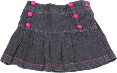 Childkraft Solid Girl's Regular Black Skirt