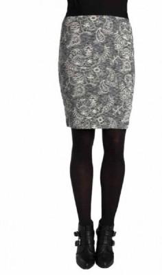 Paramita Printed Women's Regular Grey Skirt