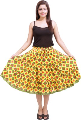 Ceil Printed Women's Gathered Multicolor Skirt