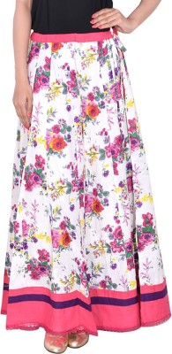 Bright & Shining Floral Print Women's Pleated Pink Skirt
