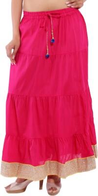 Magnus Solid Women's Regular Pink Skirt at flipkart