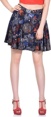 LA ATTIRE Printed Women's A-line Blue Skirt