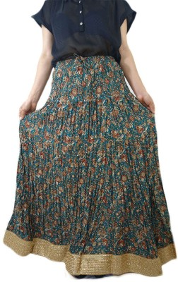 ShopMore Floral Print Women's Regular Multicolor Skirt