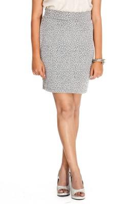 Young Trendz Embellished Women's Pencil Silver Skirt at flipkart
