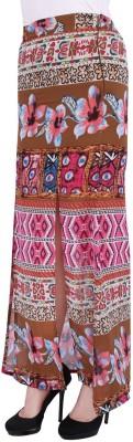 Myk Pacific Printed Women's Straight Brown Skirt