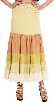Kanika Creations Solid Women's Regular Brown Skirt