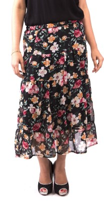 Goodwill Impex Floral Print Women's A-line Multicolor Skirt