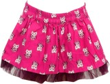 Bella Moda Printed Girls Gathered Pink S...