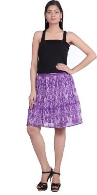 Indian Artizans Woven Women's Pleated Purple Skirt