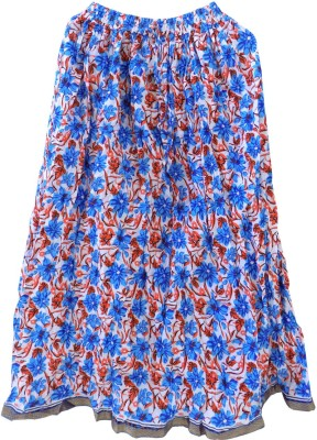 Jaipur Craft Shop Floral Print Women's A-line Multicolor Skirt